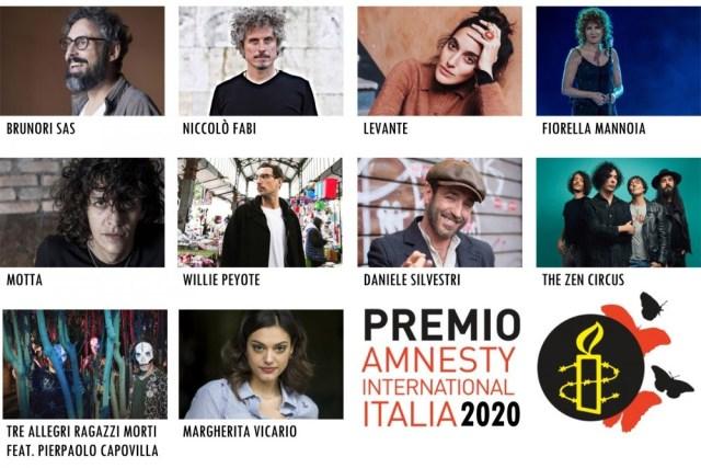 """Le 10 """"Voci per la libertà"""" in lizza per il Premio Amnesty aspettano gli emergenti"""