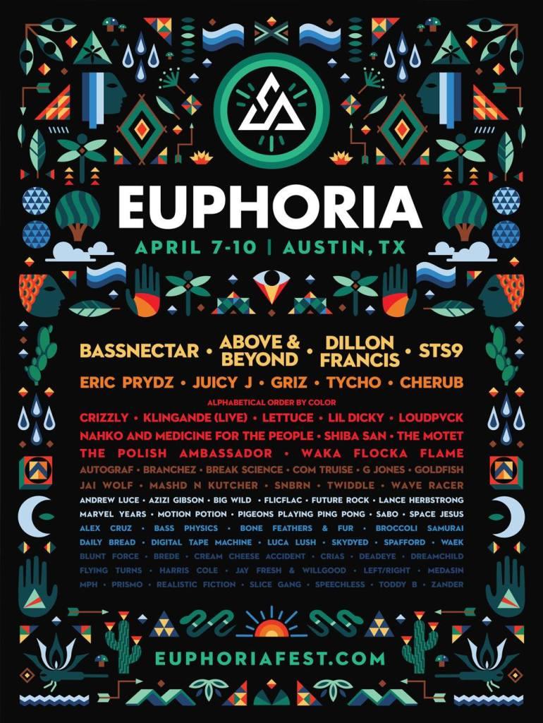 Euphoria Complete Lineup