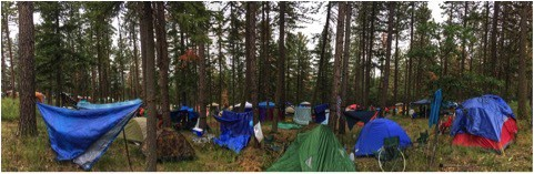 West side walk-in camping: (Photo by: Karly Osten)
