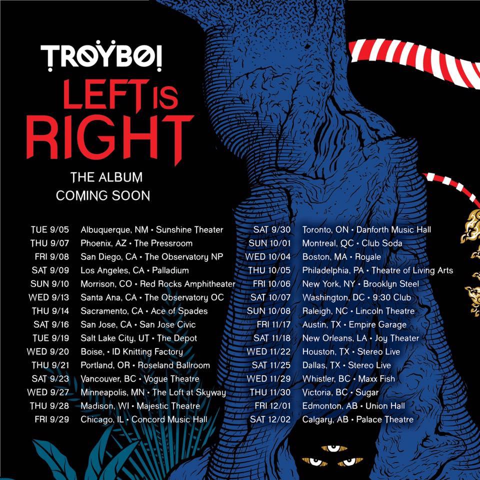 TroyBoi releases extraordinarily versatile 20-track debut album, 'Left Is Right'19366633 1660278237332912 2197502390022790284 N