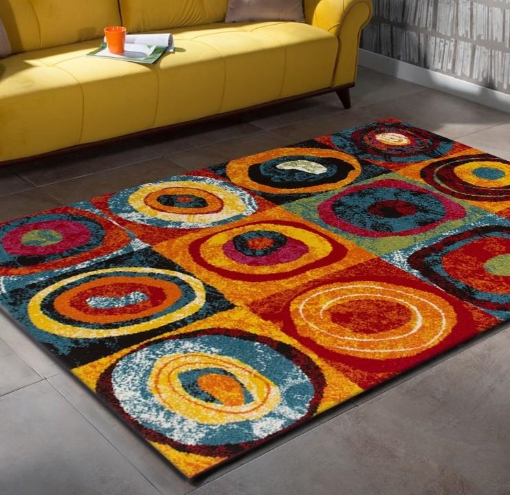 tapis design pour salon multicolore sweet