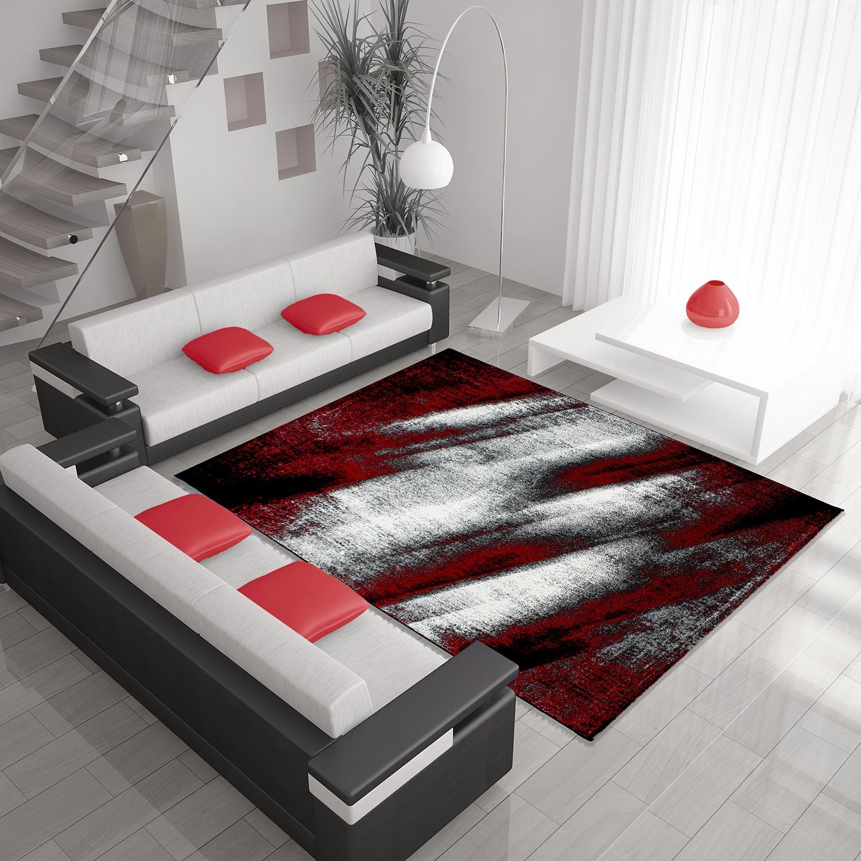 tapis vintage rouge pour salon crystal