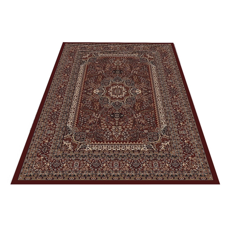 tapis a courtes meche orientaux rouge kairouan