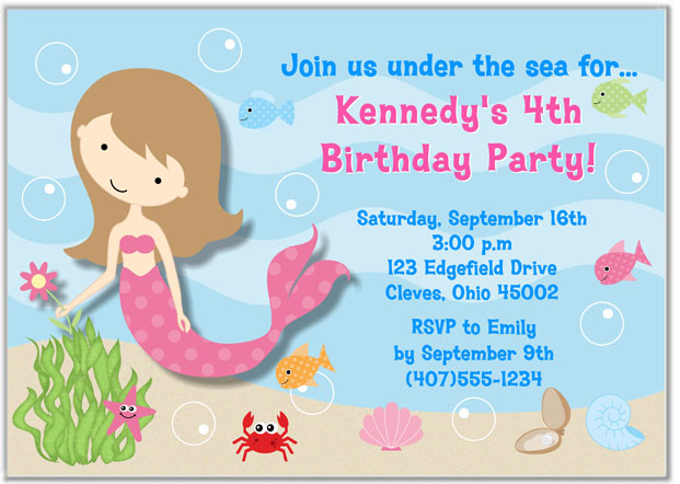 Baby Shower Invitations Under Sea