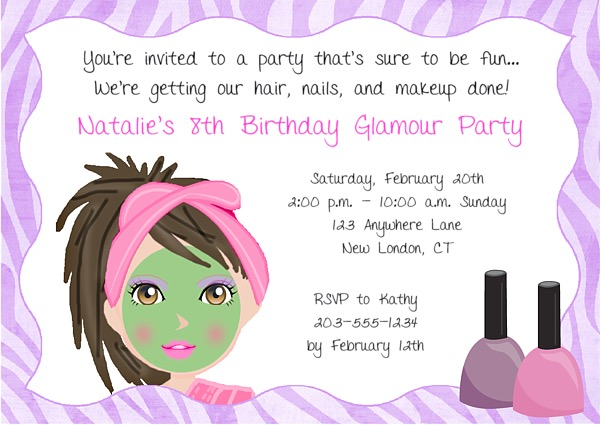Birthday Invitations 8th