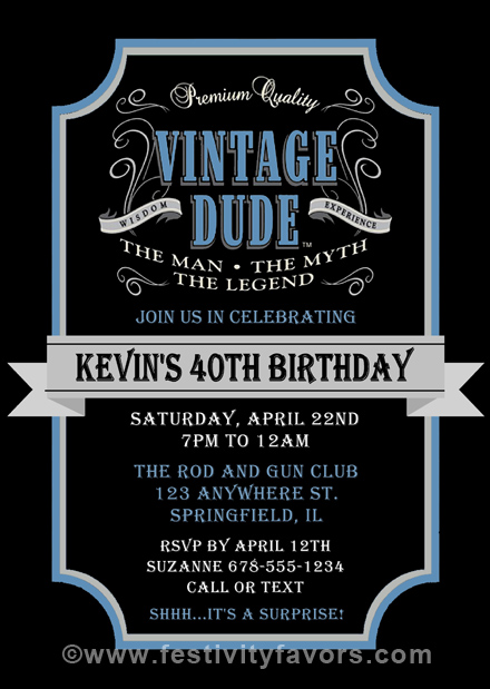 Printable Invitations Vintage