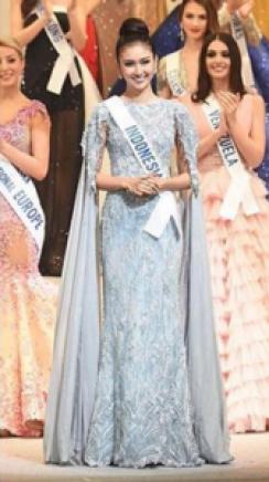 Miss International 2017 dengan gaun rancangan ivan gunawan