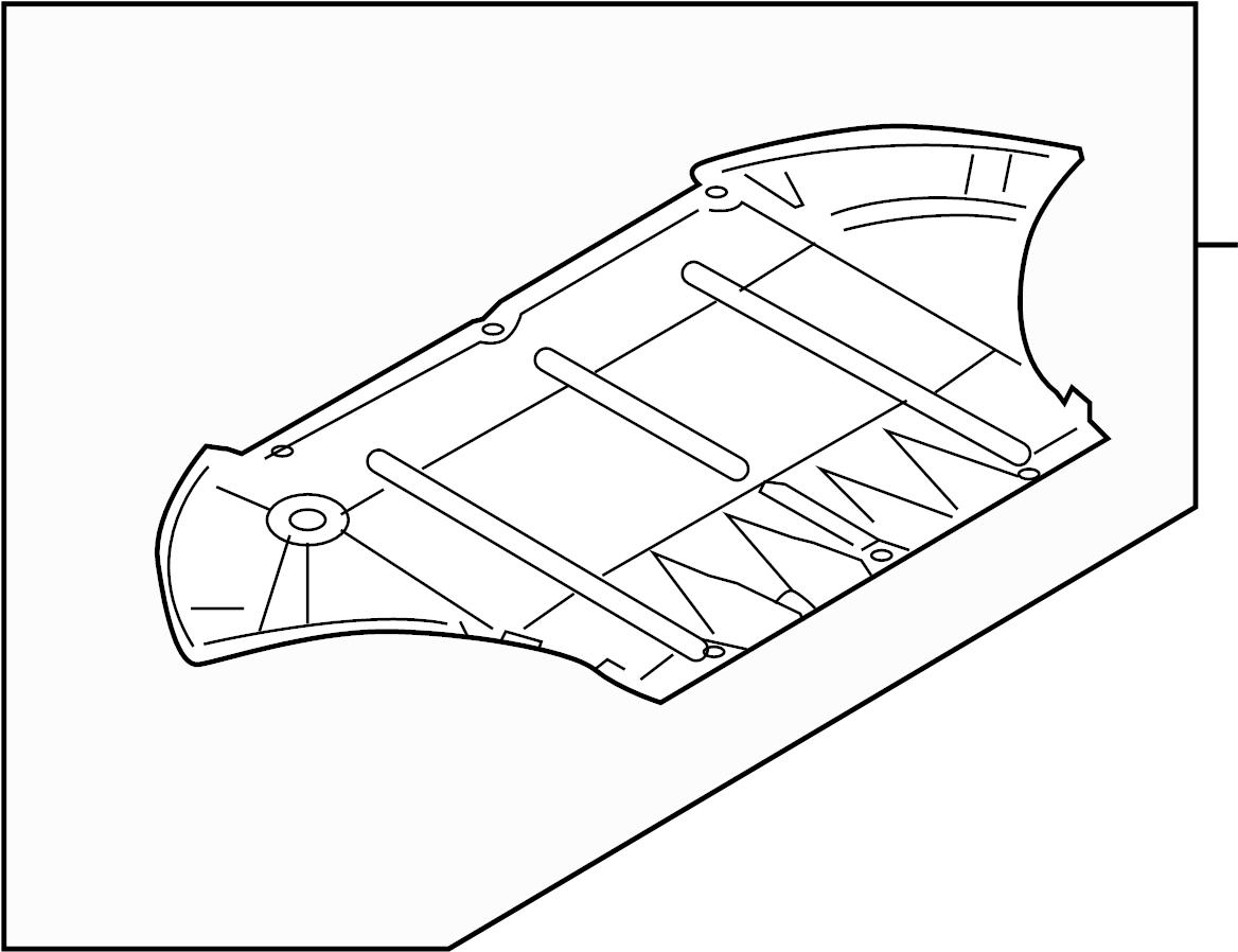 Audi A8 Baffle Front Shield Radiator Support Splash