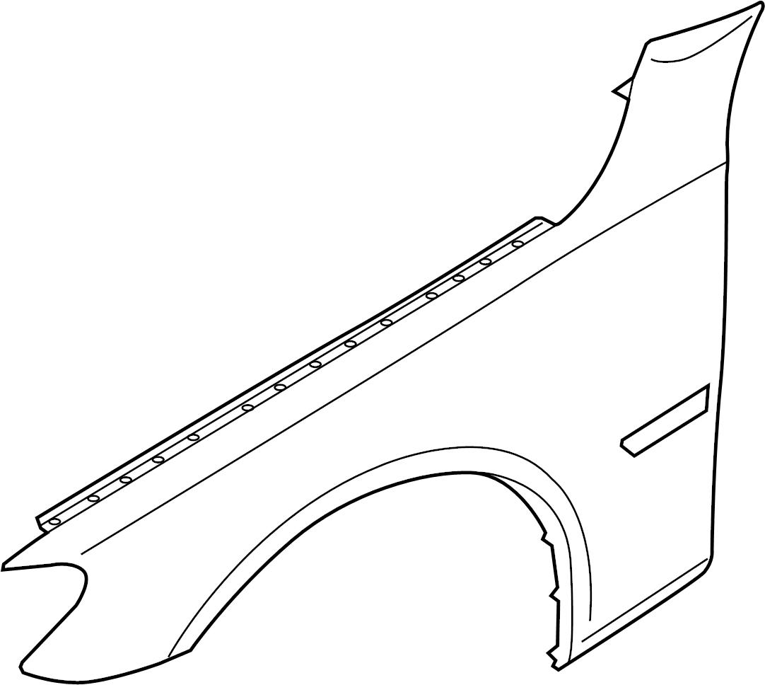 Bmw 740li Fender Right Front Apron Panel