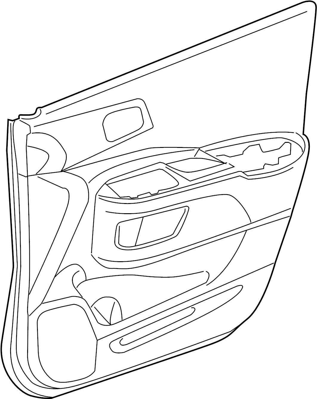 Honda Cr V Door Interior Trim Panel Right Exl Touring