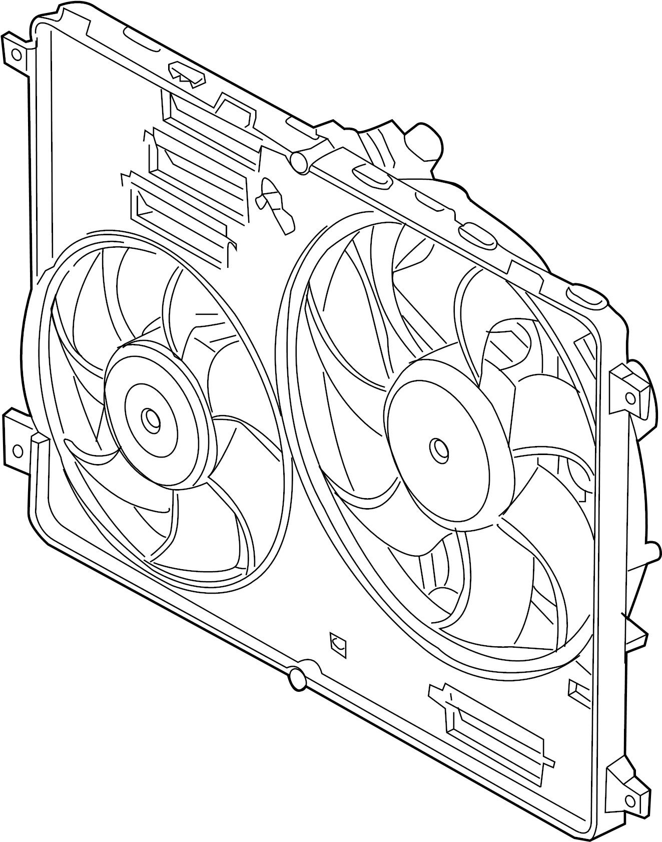 Land Rover Lr2 Engine Cooling Fan Assembly
