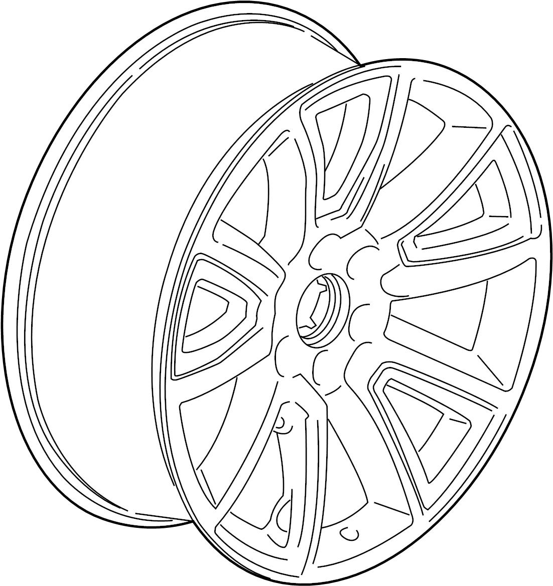Chevrolet Silverado Wheel Package Wheel Alloy Gmc Yukon 22 Code Q7m Gmc 22 Code