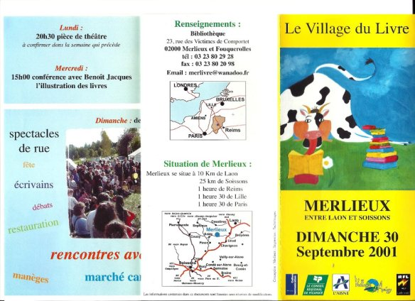 Programme Fête du Livre de Merlieux - 2001