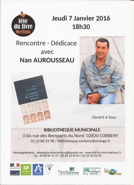 """Affiche """"Rencontre avec Nan Aurousseau"""""""