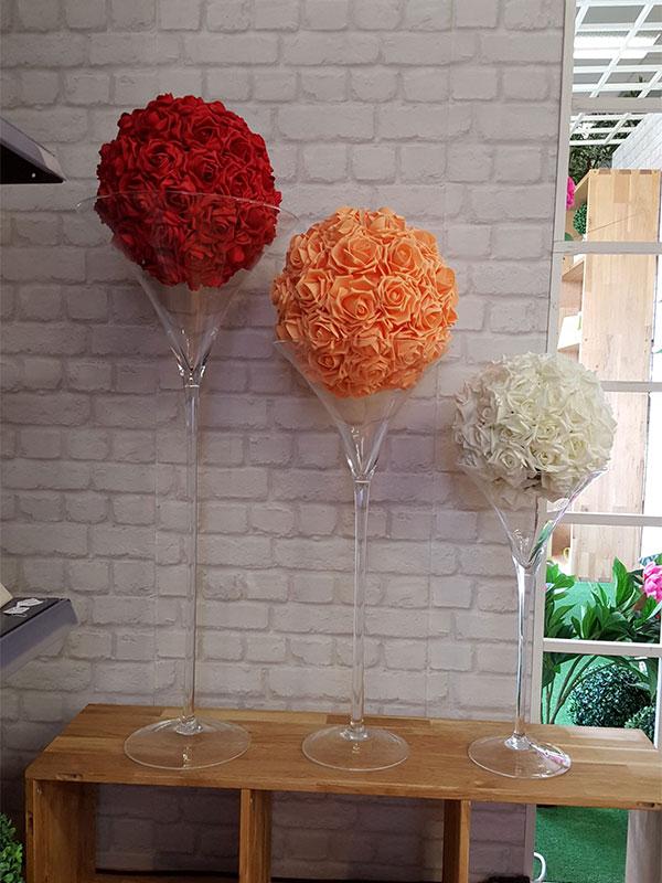 location decoration salle table vase martini 01