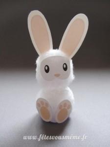 Lapin de Pâques en coton recto - Fêtes vous même