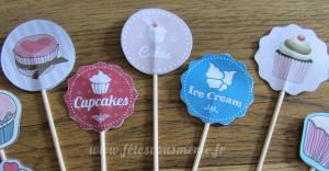 Etiquettes toppers kit décoration Petite Pâtisserie - Fêtes vous même