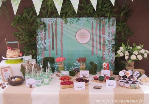 Table Gourmande Thème forêt - Fêtes vous même
