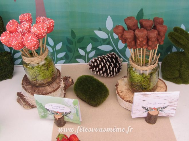 table Gourmande Thème forêt - Guimauves - Fêtes vous même
