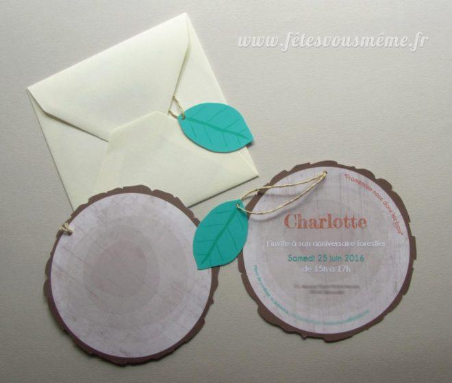 Invitation anniversaire Forêt 2 - Fêtes vous même