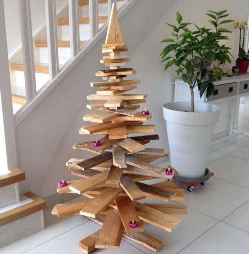 Sapin de Noël en palette - Fêtes vous même