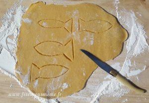 Biscuits Poissons d'Avril découpe pâte - Fêtes vous même