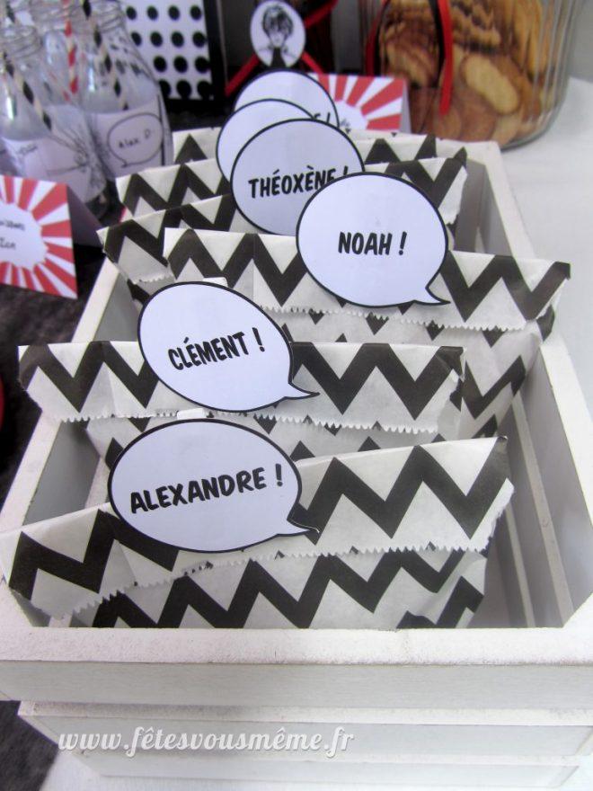 Cadeaux Invités Manga - bulles étiquettes - Fêtes vous même