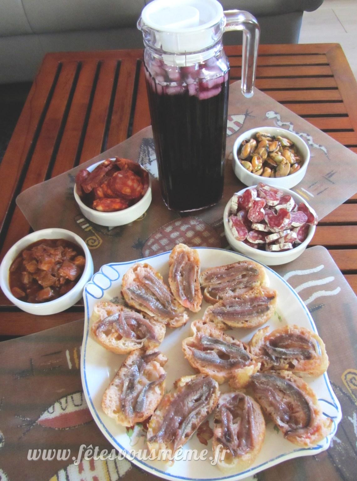 Tapas & Sangria - Espagne - Fêtes vous même