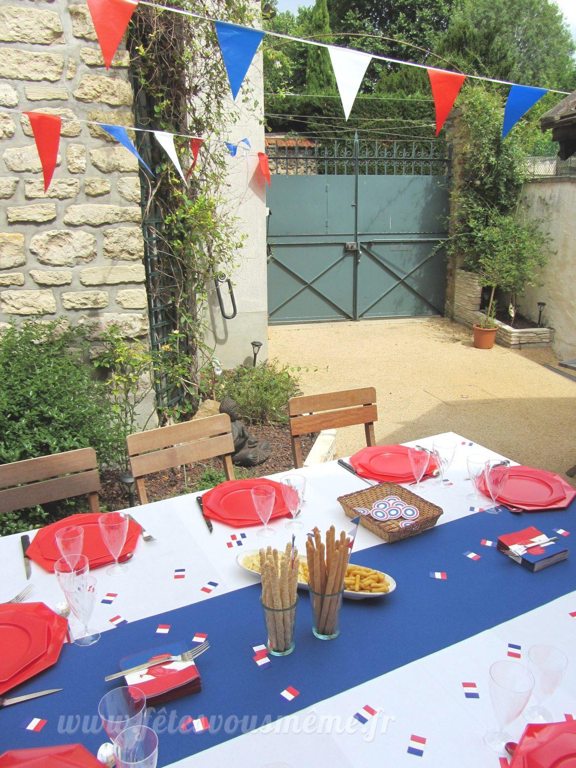 Table Gourmande 14 Juillet - Fêtes vous même