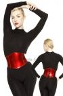Waist-Corset-Stretchlack-Metallic-Red