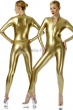 Catsuit-with-front-zip-fastener-Stretchlack-Gold