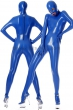 Catsuit-Stretchlack-Blue