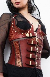 Red Leather Lace Corset