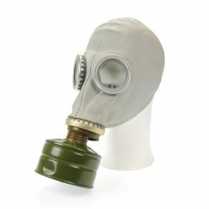 Russian GP5 ガスマスクに直接フィルターを付けた例