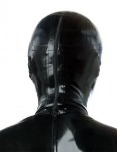全頭マスクに着脱用ジッパーが付けられた例