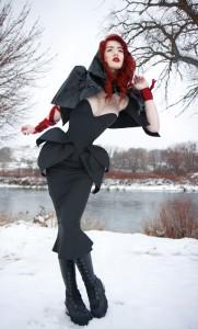 Black Matte PVC Kinetic overbust corset