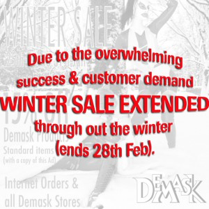 Demask Sale Extended