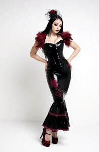 Acedia - latex ruffled skirt