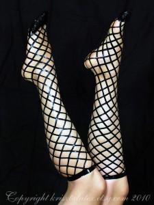 Real Latex Fishnet Socks