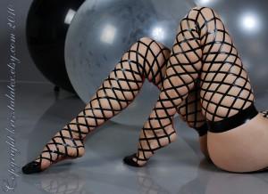 Real Latex Fishnet Stockings