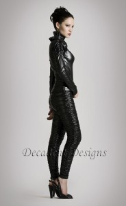 Black Faux Leather Jacket and Pants 4