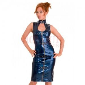 PVC Seductress Dress - Blue