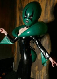 martian queen latex inflatable alien dress 3
