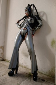 princess lippy bottomless chap style catsuit and thong