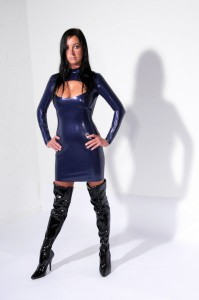 CHARM latex dress