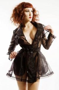 Black Organza Coat