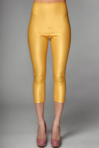 LATEX CAPRI PANTS