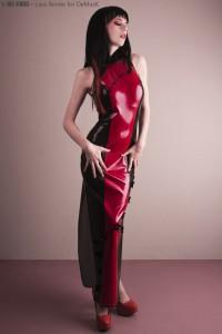 LONG SLEEVELESS NARROW DRESS, JAPANESE STYLE