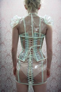 Luminous - Clear PVC Corset with Glowing trim