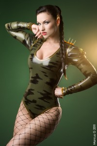 Camouflage body with spikes